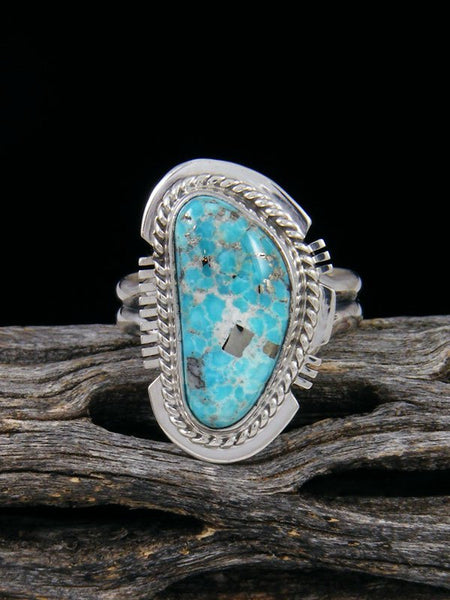 White Water Turquoise Ring, Size 8.5