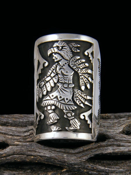 Eagle Dancer Overlay Ring, Size 9