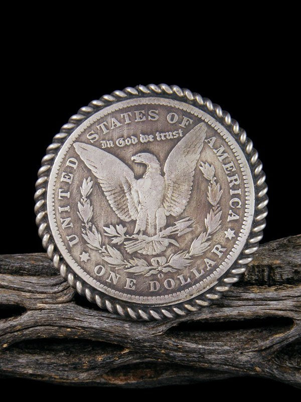 Eagle Dollar Sterling Silver Ring, Size 9