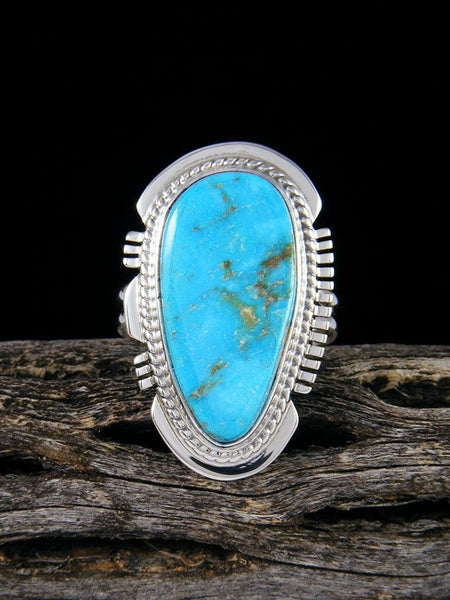 White Water Turquoise Ring, Size 8