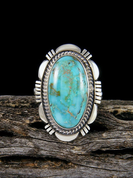 Navajo Dry Creek Turquoise Ring, Size 8