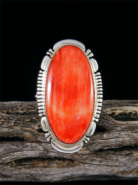 Navajo Spiny Oyster Ring, Size 8 1/2