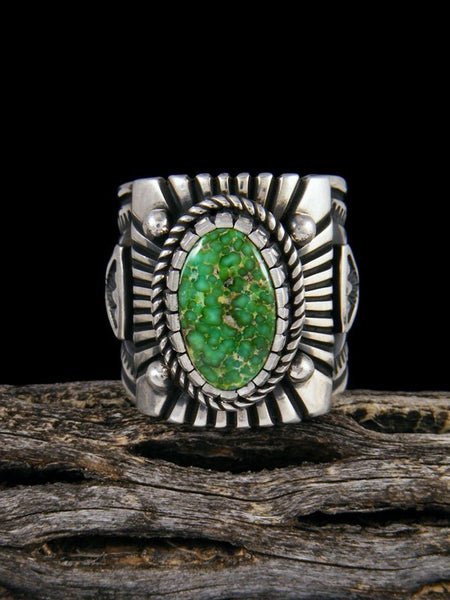 Sonoran Gold Sterling Silver Turquoise Ring, Size 11 1/2