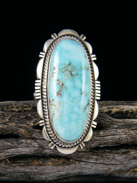 Navajo Dry Creek Turquoise Ring, Size 9