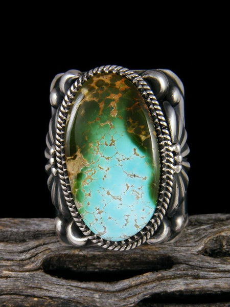 Natural Royston Turquoise Sterling Silver Ring Size 10