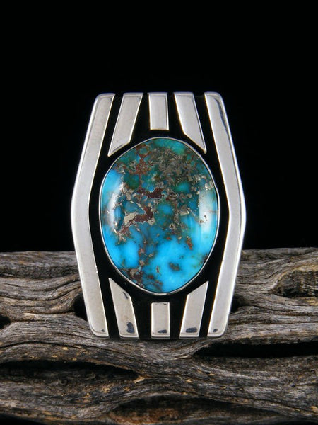 Sonoran Rose Turquoise Ring, Size 7 1/2