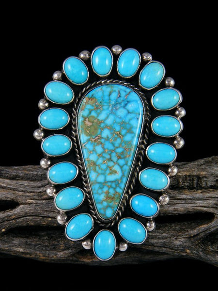 Natural Kingman Turquoise Ring, Size 7