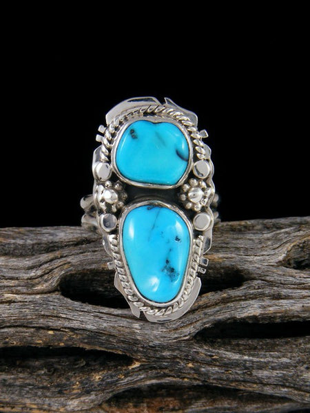 Sleeping Beauty Turquoise Ring, Size 5 1/2
