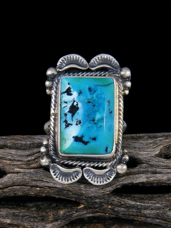 Sleeping Beauty Turquoise Ring, Size 7