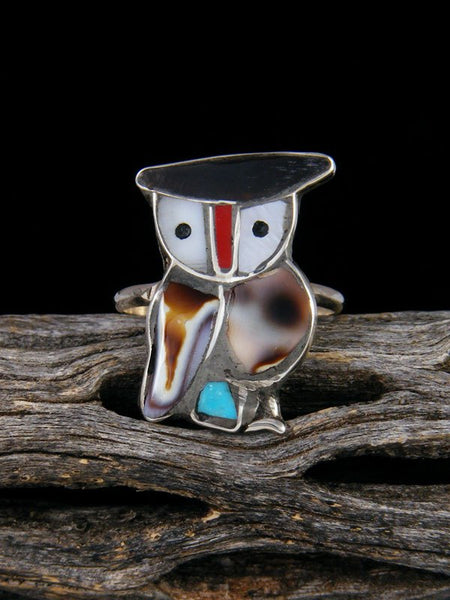 Owl Zuni Inlay Ring