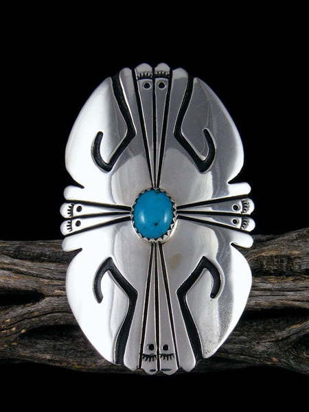 Turquoise Sterling Silver Overlay Ring, Size 8