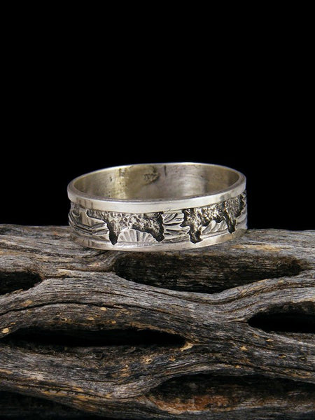 Navajo Sterling Silver Storyteller Ring