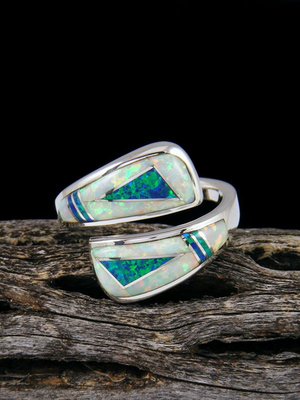 Adjustable Navajo Opalite Inlay Ring