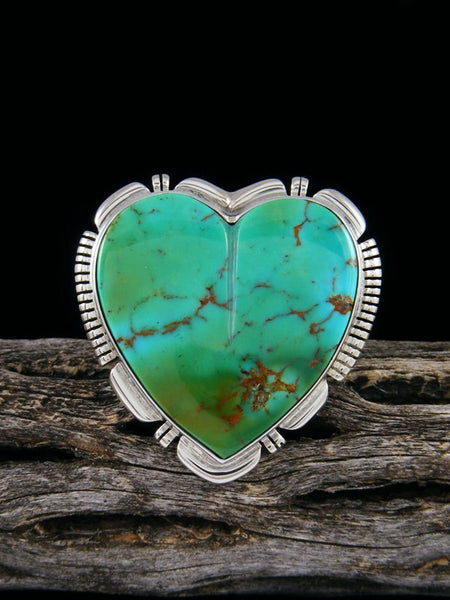 Navajo Turquoise Heart Ring, Size 9