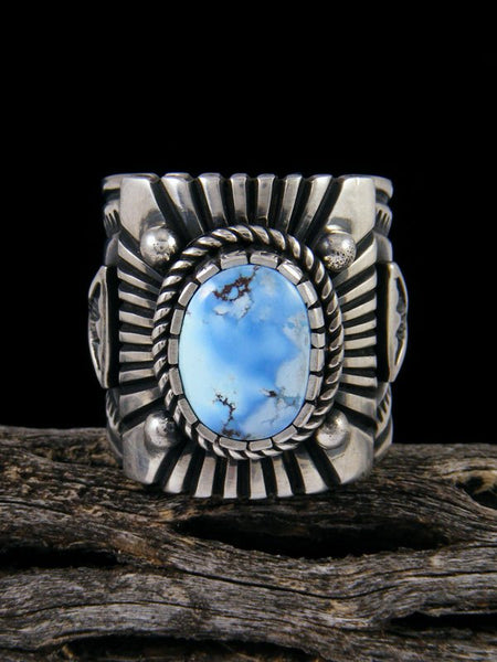 Native American Jewelry Golden Hill Turquoise Ring, Size 11