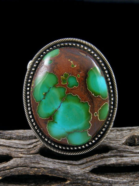 Natural Royston Turquoise Ring, Size 11