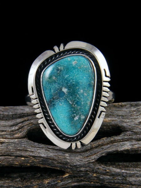 White Water Turquoise Ring, Size 9