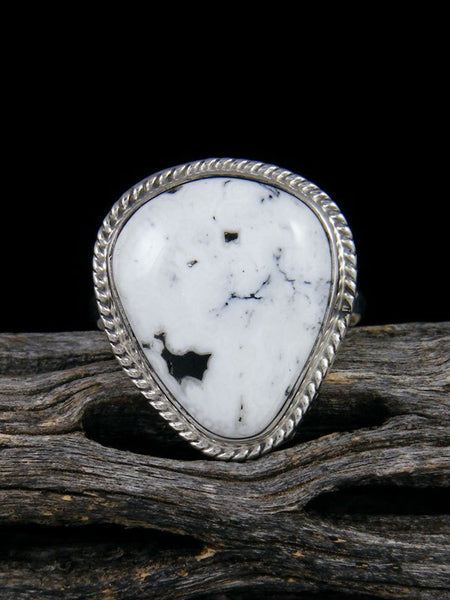 White Buffalo Ring, Size 8