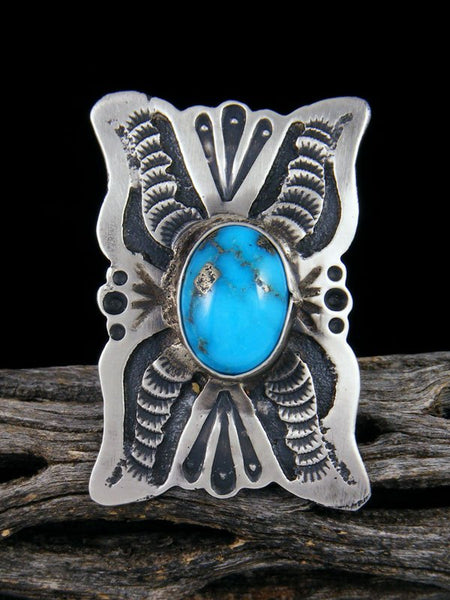 Navajo Turquoise Ring, Size 8