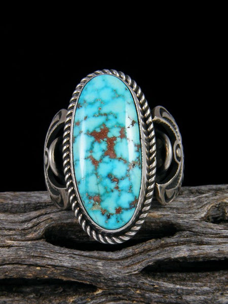 Natural Kingman Turquoise Ring, Size 8 1/2