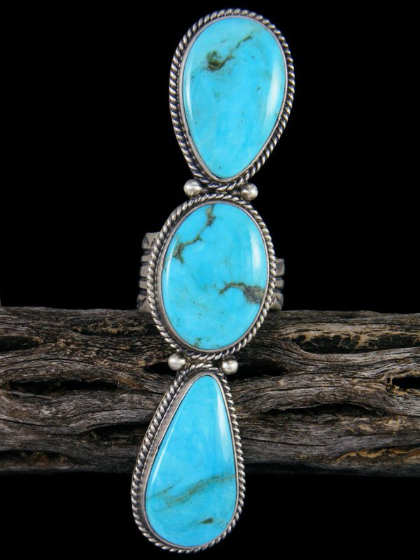 Navajo Turquoise Ring, Size 10 1/2