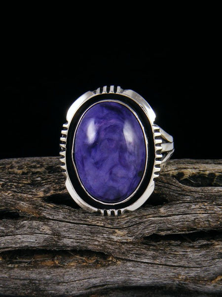 Native American Charoite Ring, Size 9