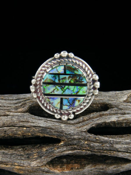 Monarch Opal Inlay Ring, Size 5 1/2