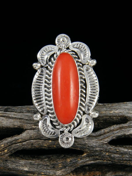Coral Ring, Size 8 1/2