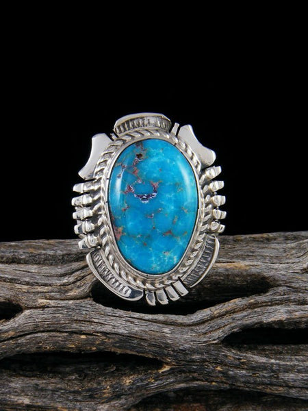 Sonoran Rose Turquoise Ring, Size 7
