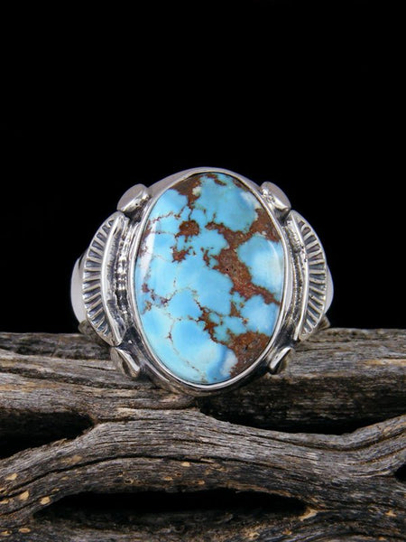 Golden Hill Turquoise Ring, Size 10