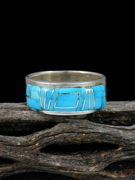 Turquoise Inlay Ring, Size 12