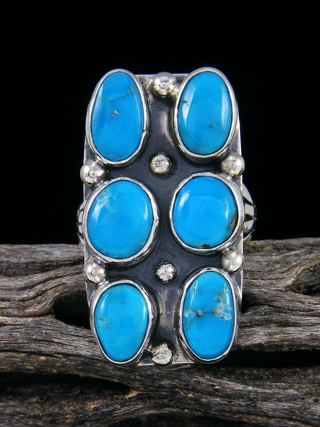 Navajo Turquoise Ring, Size 8 1/2