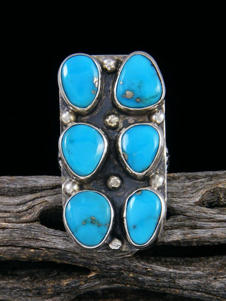 Navajo Turquoise Ring, Size 6 1/2