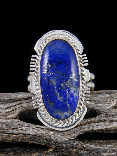 Bright Blue Lapis Ring, Size 7
