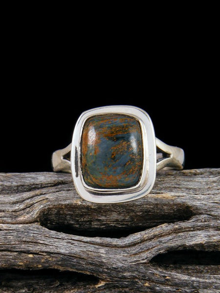 Pietersite Sterling Silver Ring, Size 7