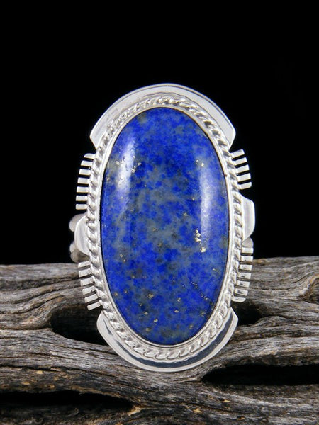 Bright Blue Lapis Ring, Size 8