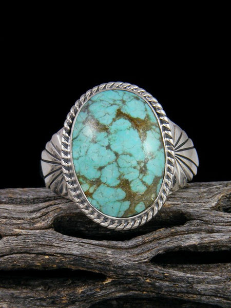 Number 8 Turquoise Ring, Size 12 1/2