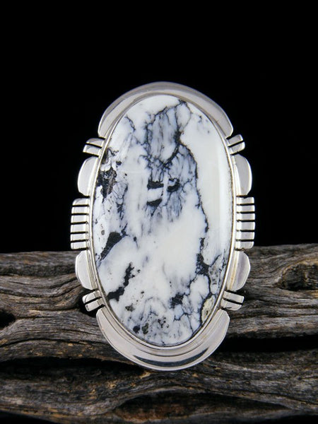 Native American White Buffalo Ring, Size 10