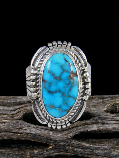 Sonoran Rose Turquoise Ring, Size 11