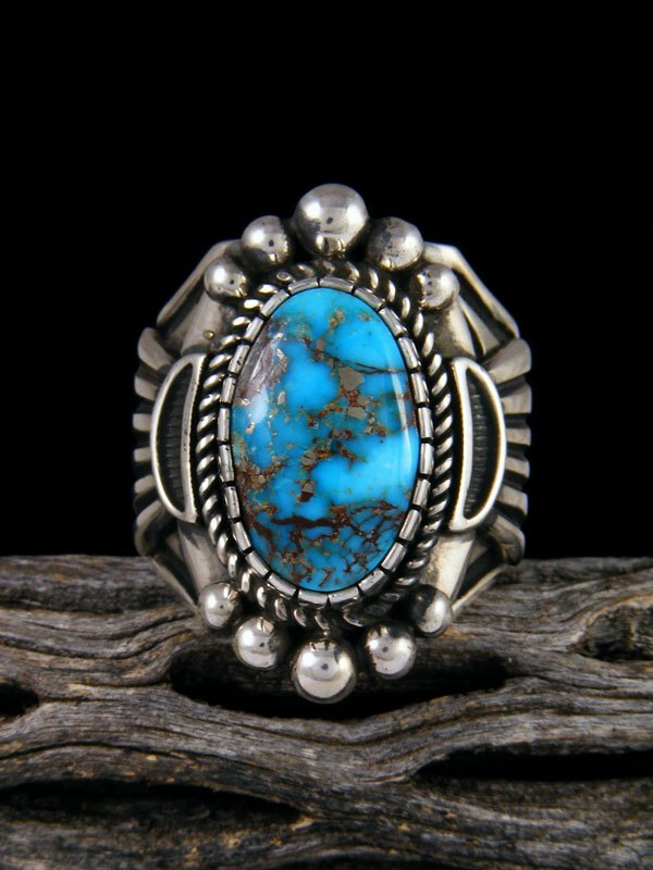 Sonoran Rose Turquoise Ring, Size 12 1/2