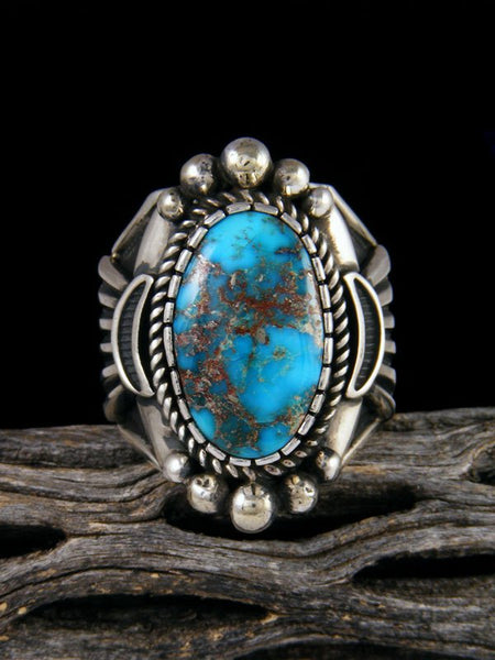 Sonoran Rose Turquoise Ring, Size 12