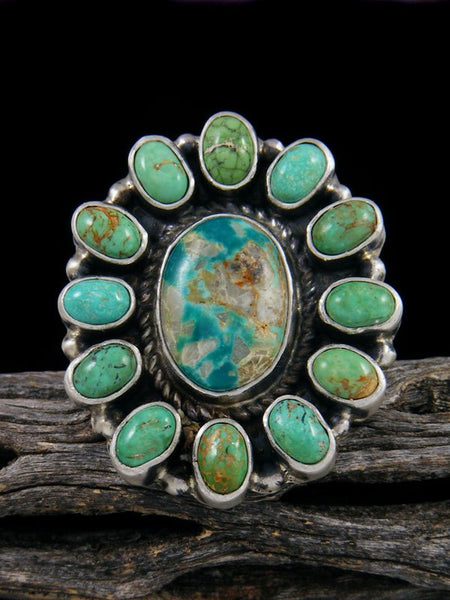Royston Turquoise Cluster Ring, Size 9 1/2