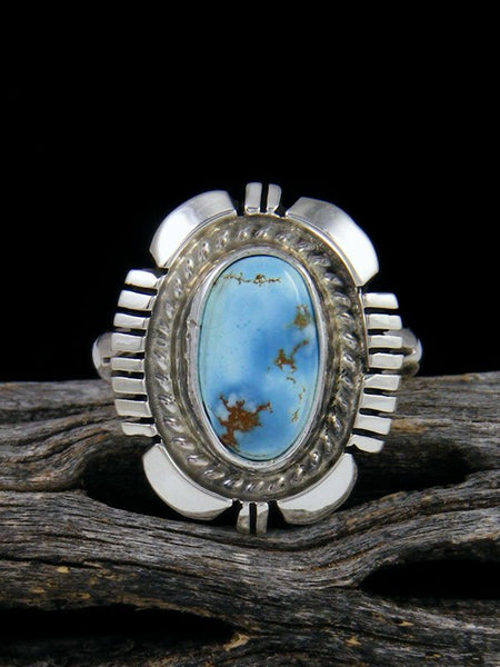 Golden Hill Turquoise Ring, Size 6 3/4
