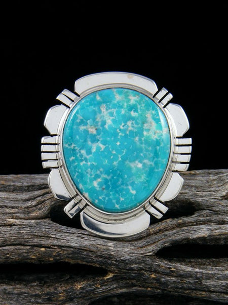 White Water Turquoise Ring, Size 8 1/2
