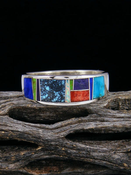 Multistone Inlay Ring, Size 11 1/2
