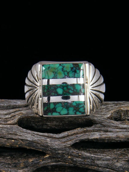 Cloud Mountain Turquoise Ring, Size 11