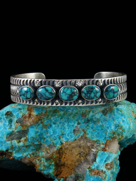 Native American Cloud Mountain Turquoise Cuff Bracelet
