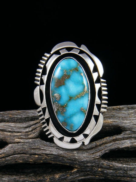 Native American Kingman Turquoise Ring, Size 6