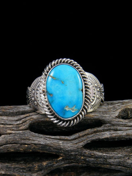 Native American Sonoran Rose Turquoise Ring, Size 12