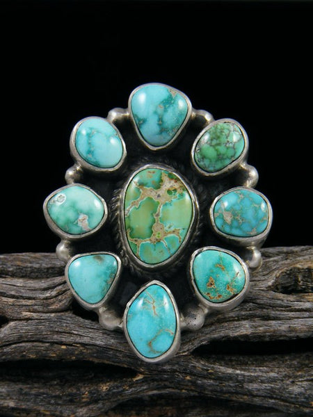 Carico Lake Turquoise Cluster Ring, Size 9 +